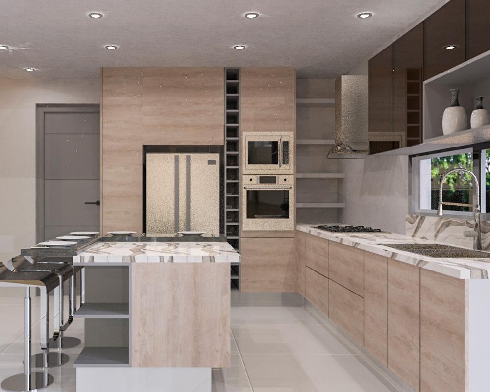 DECONA Cocinas e interiorismo proyecto casa el country 2
